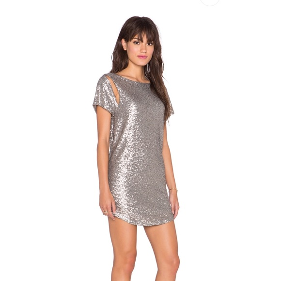 Amuse Society Dresses & Skirts - AMUSE SOCIETY MIDNIGHT SILVER SEQUIN DRESS